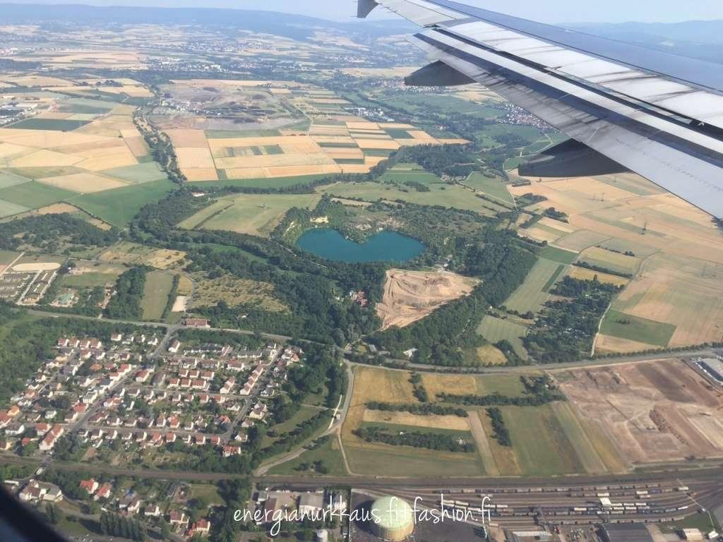Frankfurtissa on sydämenmuotoinen järvi!