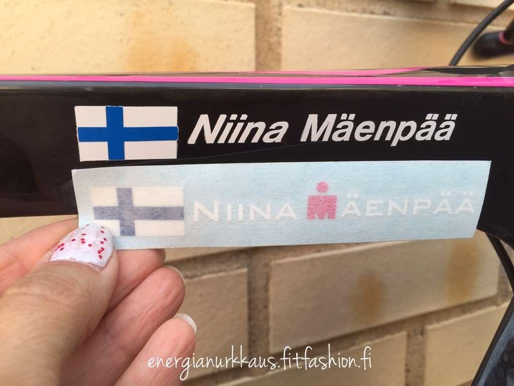 Ironman-M pinkkinä Mäenpään ämmänä.