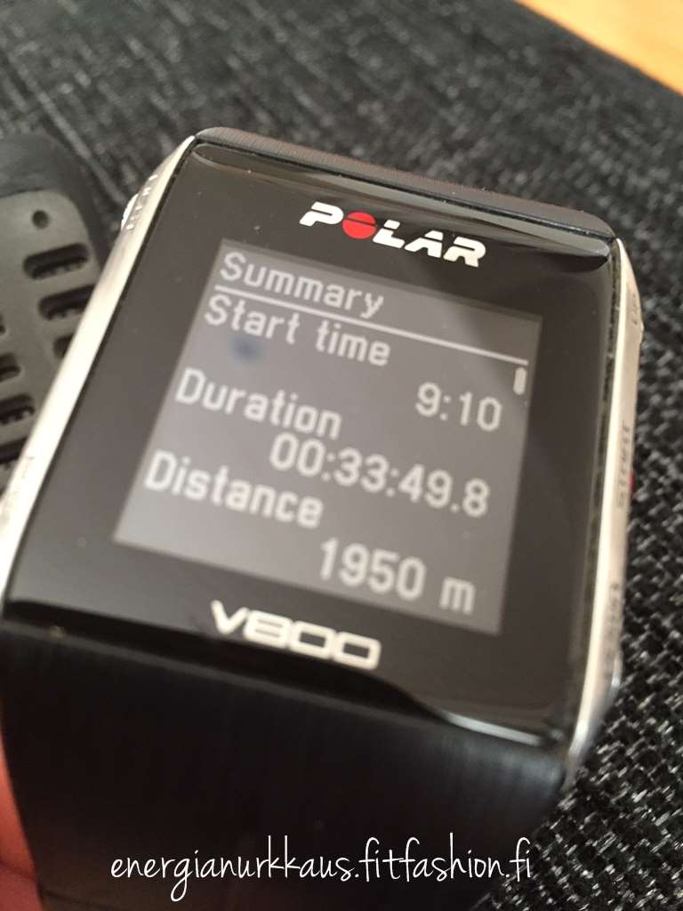 17.10.2015: 1900m märkkäritesti, vinsta liikaa. Laskettu aika 1900m 32:58. Uusi ennätys! :)
